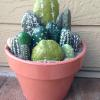 hand painted cactus bowl
