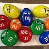 M &M air brushed stones