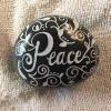 hand painted PEACE rock