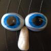 air brushed stones eyes and nose