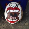 hand painted STOP BULLYING rock  inspired by others