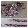 aboriginal fork and spoon wooden hand painted