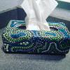 aboriginal dot painted tissue box