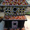 hand painted with dots birdhouse